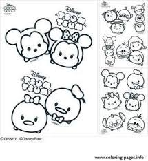 Print Disney Tsum Tsum Coloring Pages Cookies Tsum Tsums