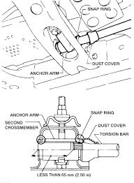 torsion key adjustment bolt. 10: remove the torsion bar anchor arm adjusting bolt-4wd models key adjustment bolt