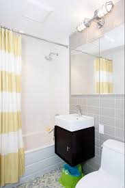 lighting for small bathrooms. Small Bathroom Lighting And Yellow Shower Curtains For Bathrooms W