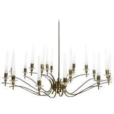 vintage angelo lelli style midcentury italian brass eighteen arm chandelier for