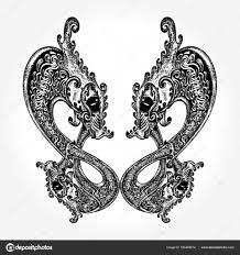 скандинавские узоры дракон кельтские татуировки двух драконов