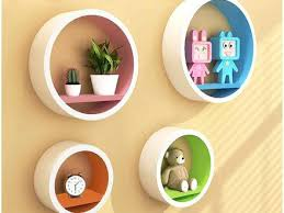 Circular Floating Shelves Interesting Bold Ideas Round Floating Shelves Locust Wooden Circle Wall Diy
