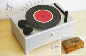 diy record player jewelry box
