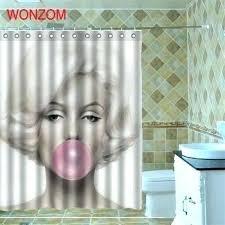 marilyn monroe shower curtain shower curtains waterproof shower curtain belle bathroom cor girl home design