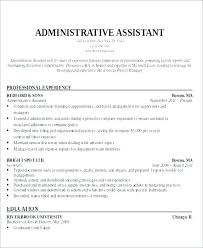 Admin Assistant Sample Resume Objective For Executive Assistant