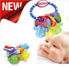Nuby Ice Gel <b>Teether Keys Baby</b> Toy Soft <b>Teething</b> Soothing Bite Gift ...