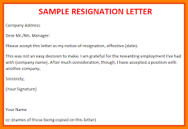 Job Resignation Letter Sample Template Classy Resignation Letter Casualbest Ideas Of Job Resignation Letter About