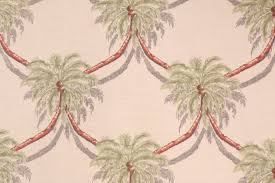 tropical fabrics and wallcoverings by ginny stine palm tree trailage printed linen dry fabric in rust