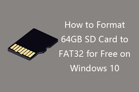 Your sd has now been formatted to fat32. How To Format 64gb Sd Card To Fat32 Free Windows 10 3 Ways