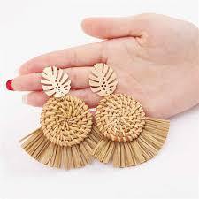 Fashion Fruit Embroidery Pineapple Drop <b>Earrings Women</b> Boho ...