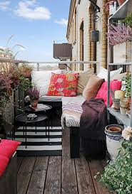 Outdoor: Small Colorful City Balcony Ideas - Outdoor Rooms
