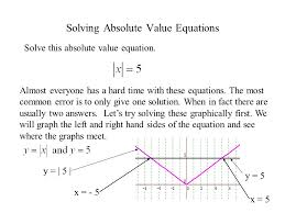 solving absolute value equations almost everyone has a hard time with these equations