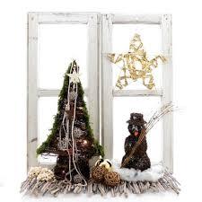 Fensterdeko Weihnachten Tannenbaum Und Schneemann Aus Rebe