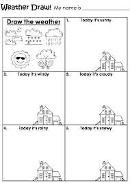 Draw the weather worksheet | Homeschool: 2nd Grade | Pinterest ...