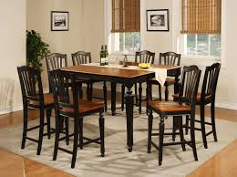 Black And Brown Dining Room Table