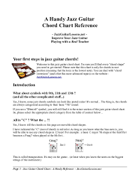 Pdf A Handy Jazz Guitar Chord Chart Reference