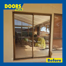 external hinged solid timber with glass doors
