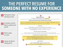 First Job Resume No Experience Template Example First Resume