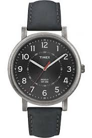 timex t2p219 men 039 s classic dark grey leather watch indiglo image is loading timex t2p219 men 039 s classic dark grey