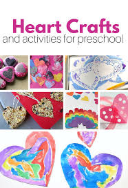 Shapes Chart For Nursery Heart Shape Crafts Activities For Preschool No Time For