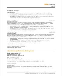 Interior Design Resume Templates Interesting Free Interior Design Resume Templates Interior Designer Free