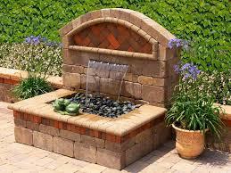 patio wall fountain ideas
