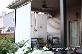 outdoor patio curtain best 25 curtains ideas on