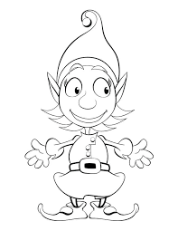 Elf Printable Coloring Pages Best Coloring Pages Images On Of Elf
