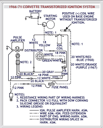 old date 1966 71 corvette transistorized ignition system wiring diagram