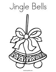 Jingle Bells Coloring Page Twisty Noodle