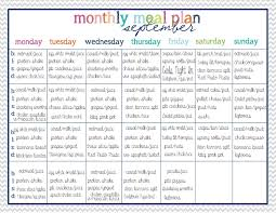 Weight Loss Menu Planner Template 45 Printable Weekly Meal Planner Templates Kittybabylove Com