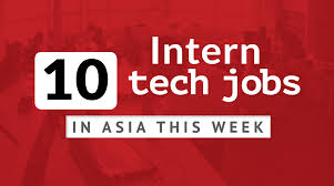 Design Week Jobs Tech And Startup Intern Jobs In Asia This Week