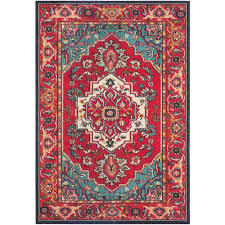 safavieh monaco red turquoise 5 ft x 8 ft area rug