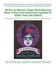 Design A Sugar Skull Online Book Dia De Los Muertos Sugar Skull Colouring Book A Day