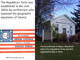 「1854, ripon, wisconsin, republican party organized」の画像検索結果