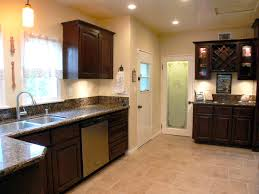 alternate angle of kitchen with stainless steel dishwasher and walk in pantry behind frosted glass