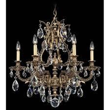 schonbek sophia floine bronze six light clear spectra crystal chandelier 24w x 24 5h