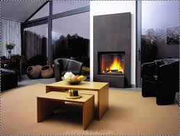 living room contemporary family room with wooden table benches also black wall for living most