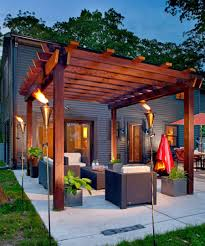patio designs. 1. Turn Up The Heat With A Glowing Pergola Patio Designs S