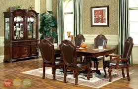 Elegant Formal Dining Room Sets For Worthy Round Glass Top Table