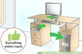 ergonomic desk setup. Ergonomic Desk Setup Image Titled Set Up An Ergonomically Correct Workstation Step Pdf U