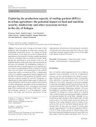 exploring the production capacity of rooftop gardens rtgs in urban  case study exploring the production capacity of rooftop gardens rtgs in urban agriculture