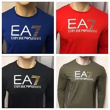 Details About Armani Ea7 Long Sleeve Crew Neck T Shirt Various Colours Size S To Xxl