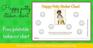 Free Potty Training Sticker Chart Happy Girl Acn Latitudes