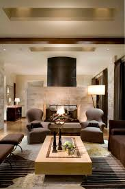 Living Room Fireplace Modern Brown Living Room Zampco