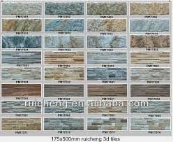 Small Picture Wood Design Wall Tile 3d Digital Inkjet Printing Tile 175x500mm