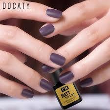 docaty matte uv top coat nail gel polish 8ml no wipe soak off manicure nail art gel varnish long lasting polish gelous nail gel nail supplies from justinbk