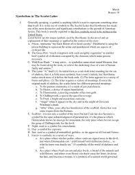 letter essay scarlet letter essay