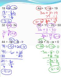 solving multi step equations 7th grade pre algebra mr burnett
