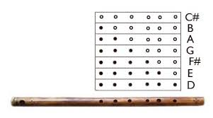 How To Play Bamboo Flute Finger Chart How To Play Windwood Flutes